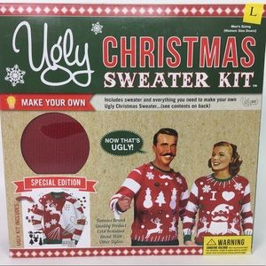 Ugly Sweater Christmas Sweater DIY Mens L womens M